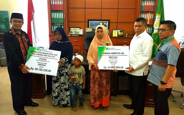 BPJS Aceh Tengah Serahkan Klaim Jaminan Kematian