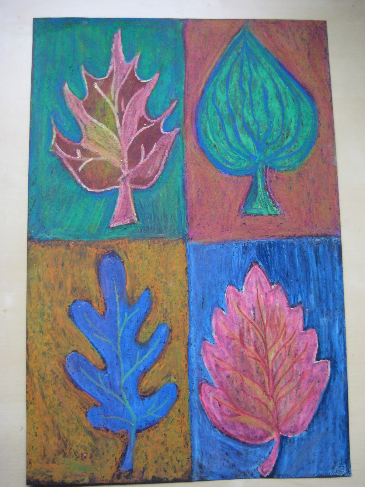 Pink And Green Mama Fall Fun Art Lesson With Warm And Cool Colors Leaf Study