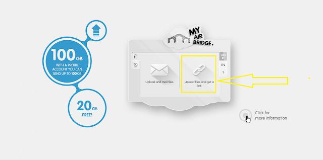 أفضل موقع لرفع الملفات دون الحاجة إلى التسجيل ومساحة مجانية 20 GB