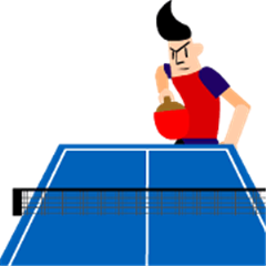 I love table tennis! Moving table tennis