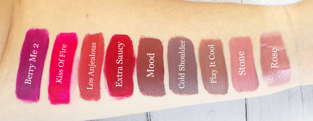 Dose of Colors Lipsticks swatches