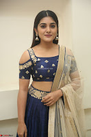 Niveda Thomas in Lovely Blue Cold Shoulder Ghagra Choli Transparent Chunni ~  Exclusive Celebrities Galleries 062.JPG
