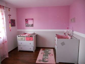 Dormitorio para beb en rosa y blanco dormitorios - Color paredes habitacion bebe ...