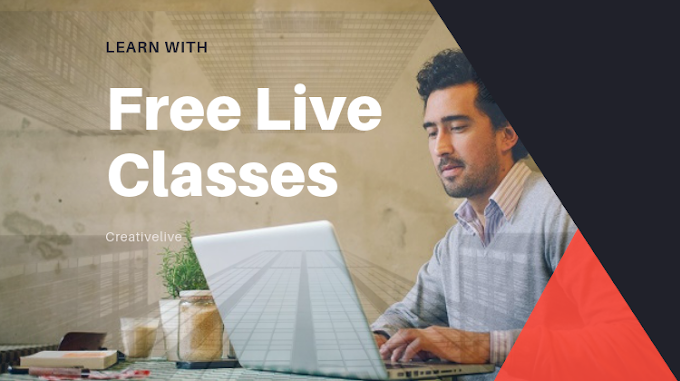 Get Live Class Totally Free at Creativelive