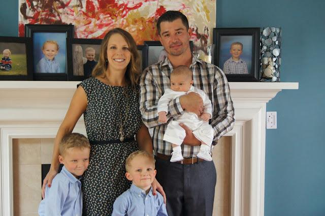 baptism family portrait