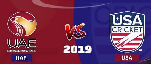 United Arab Emirates vs United States of America 1st T20I 2019, match timing date, schedule, Live Scores, updates.