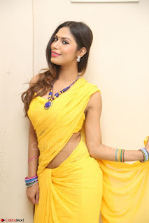 Nishigandha in Yellow backless Strapless Choli and Half Saree Spicy Pics 118.JPG