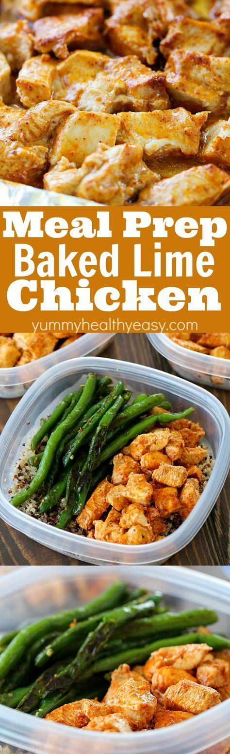 MEAL PREP BAKED LIME CHICKEN BOWLS