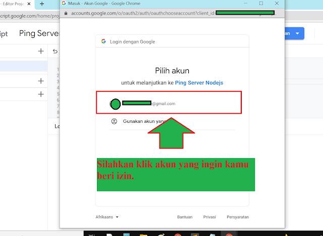notif tinjau izin google script