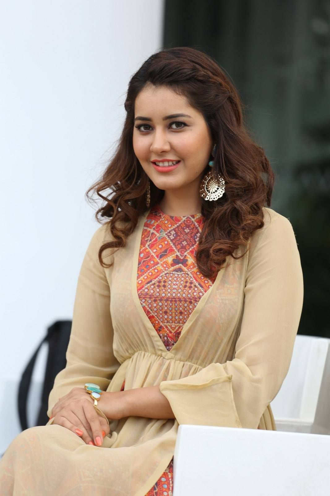 beautiful indian girl rashi khanna unseen hot photos in yellow dress