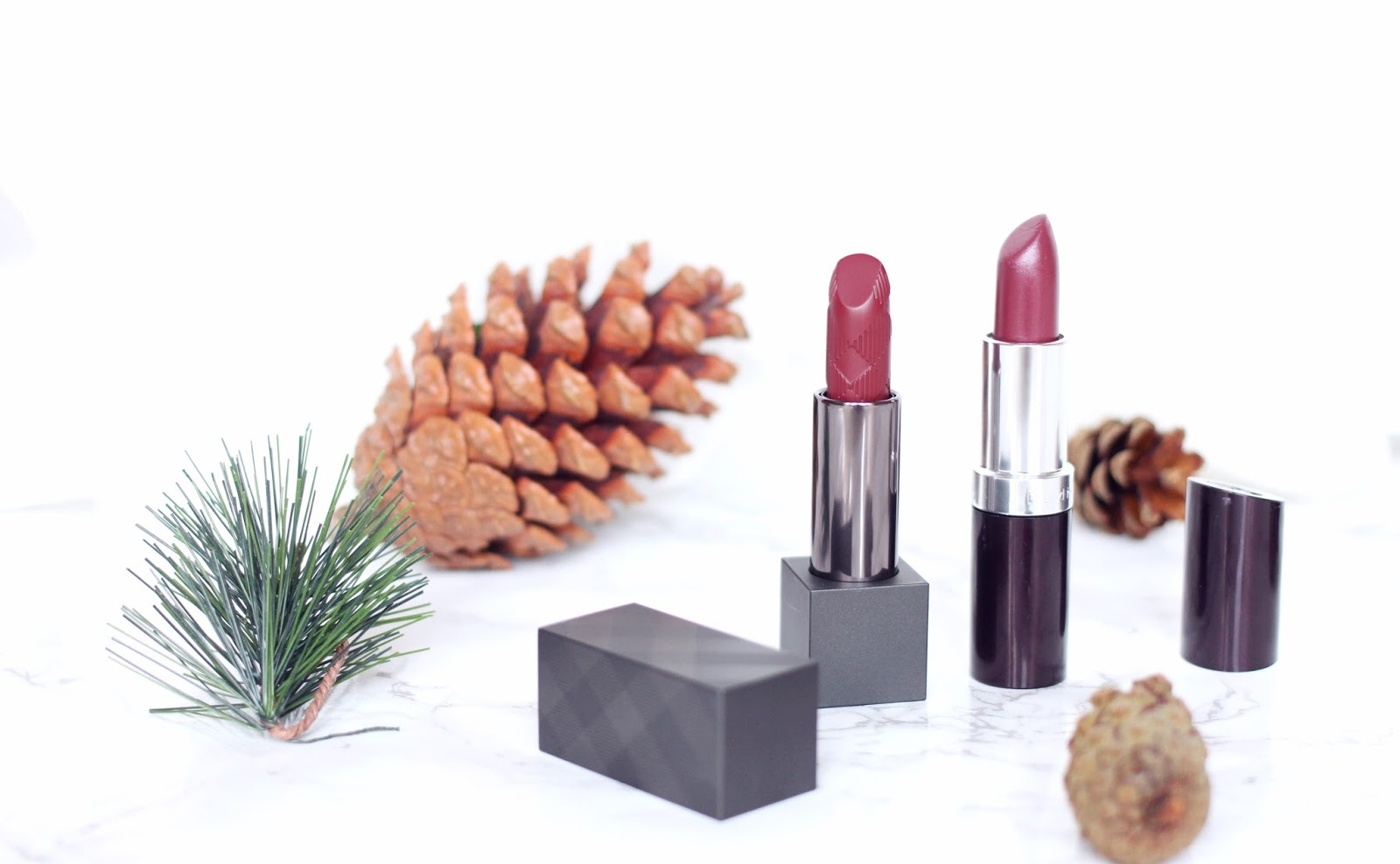 Burberry and Rimmel Plum Lipsticks