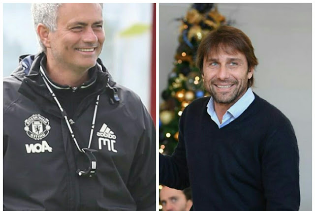 Mourinho and Conte put rivalry aside at Old Trafford