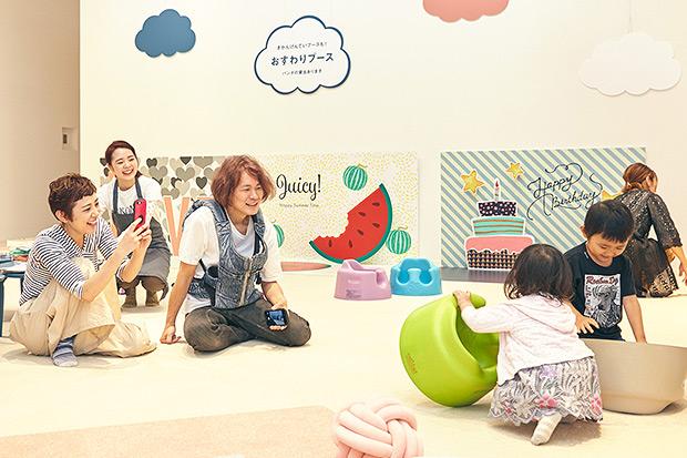 横峰家ご一家「OYACO nohana(オヤコノハナ)」にご来店!さっそく遊び始めるまめちゃんとゆめこちゃん