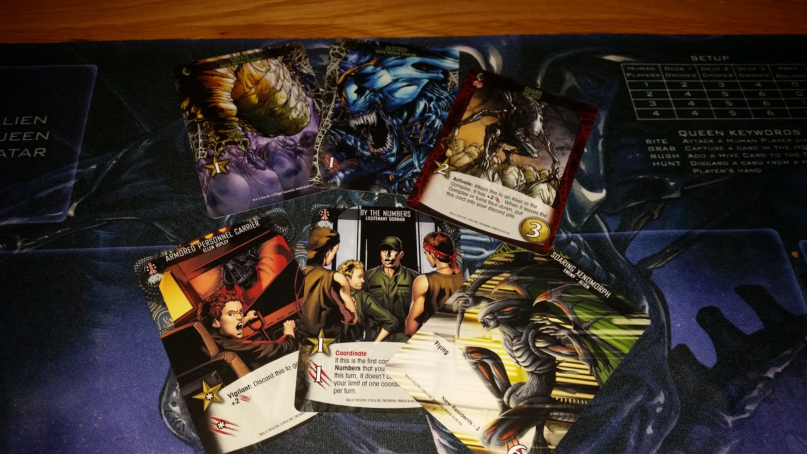Legendary encounters Alien expansion from Upper Deck games