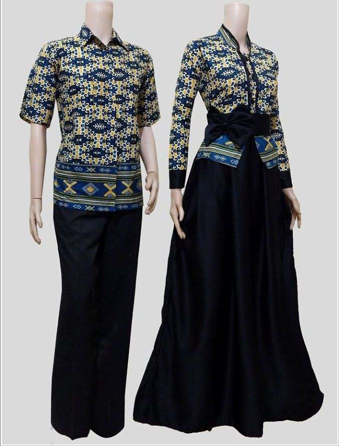 Model Baju Batik Muslim Couple Modern Terbaru