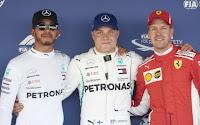 Lewis Hamilton, Sebastian Vettel, Valtteri Bottas F1 Grand Prix Rosji 2018