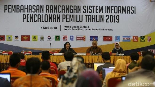 Pendaftaran Caleg Pemilu 2019 Lewat Silon