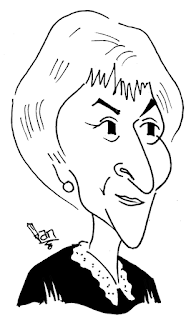 Judge Judy caricature by Ian Davy Brown