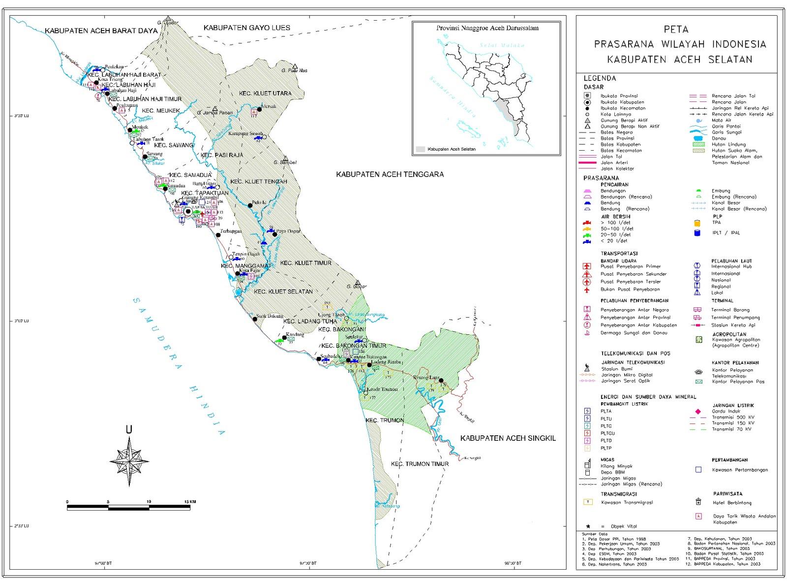 Peta Kota: Peta Kabupaten Aceh Selatan