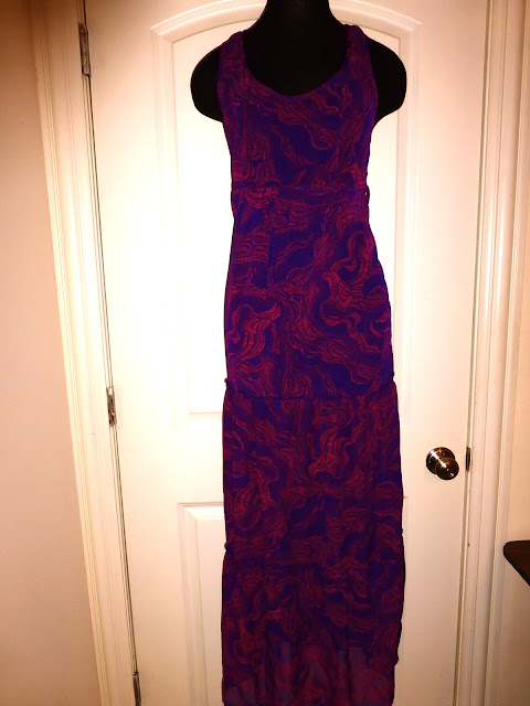 Mossimo Target pink and purple maxi dress
