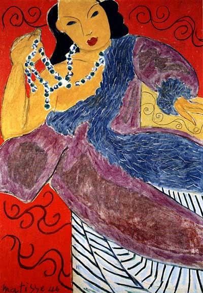 Asiática - Pinturas de Matisse, Henri - (Fauvismo) Francês