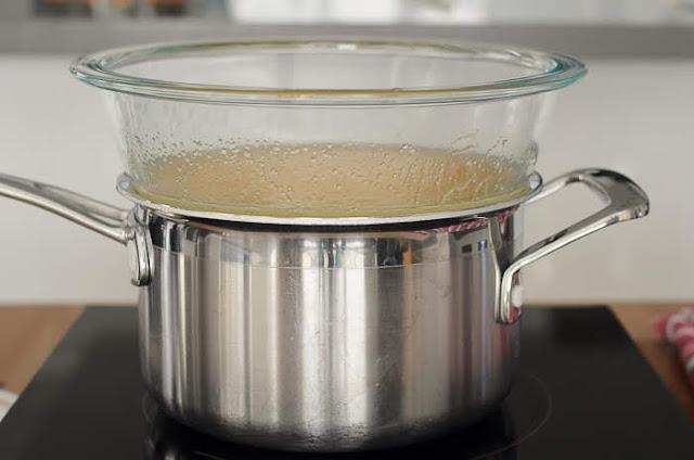 cook lemon curd over double boiler