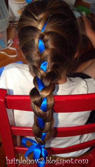 Swell Hairdo How To Lesson 87 French Braid With Ribbon Accent Short Hairstyles For Black Women Fulllsitofus