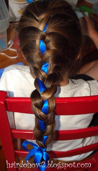 Hairdo Howto Lesson 87 French Braid with Ribbon Accent