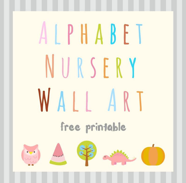 Alphabet Nursery Wall Art - free printable