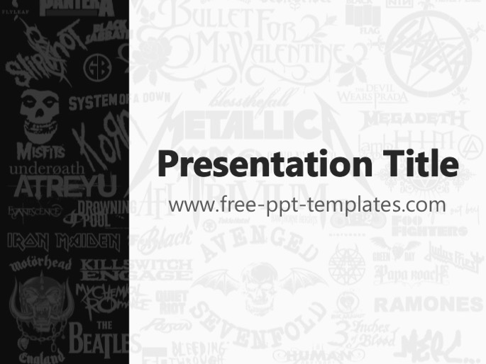 Free powerpoint templates rock music ppt templates toneelgroepblik Gallery