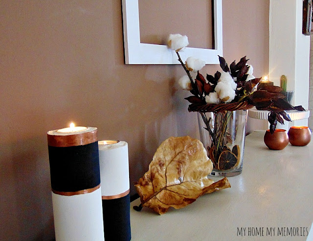 fall-decoration-with-dried-flowers-diy-plaster-candle-pots