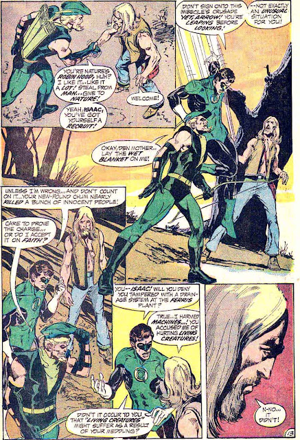 Green Lantern Green Arrow #89 dc comic book page art by Neal Adams