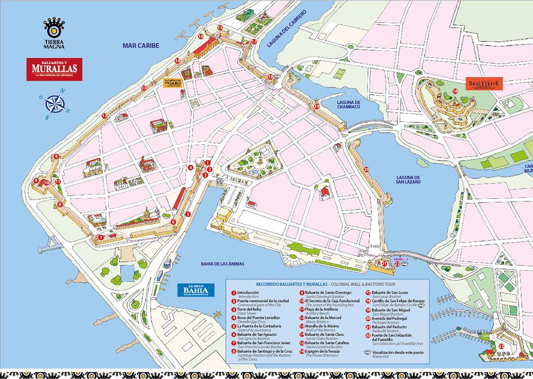 Remodelando La Casa My Travels Cartagena De Indias The Walled City - Cartagena de indias map