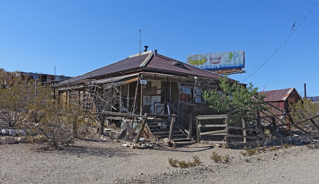 Abandoned buildings in the living ghost town of Searchlight NV