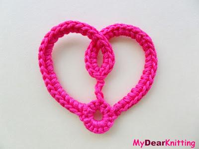 Easy small crochet heart pattern