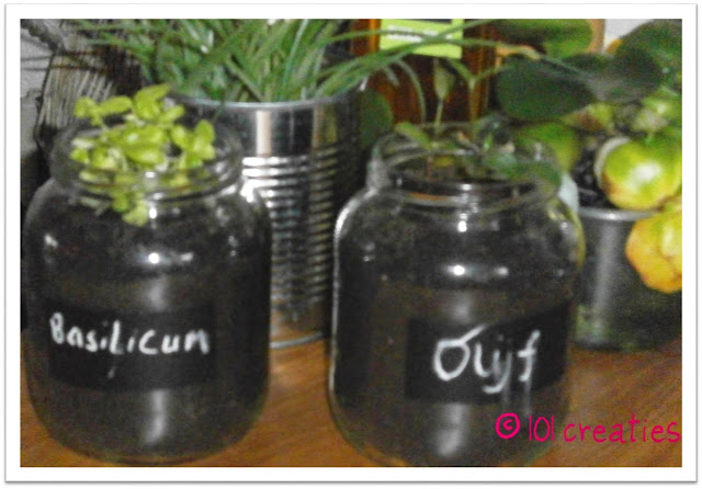 Pimpen glazen potten