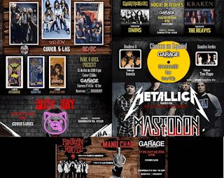 OCTUBRE 2018: Mes de TRIBUTOS Rock en Bogotá