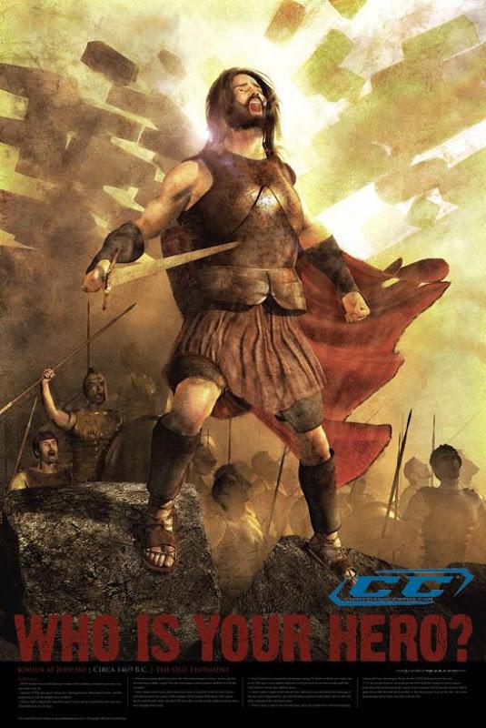 joshua jericho bible hero poster