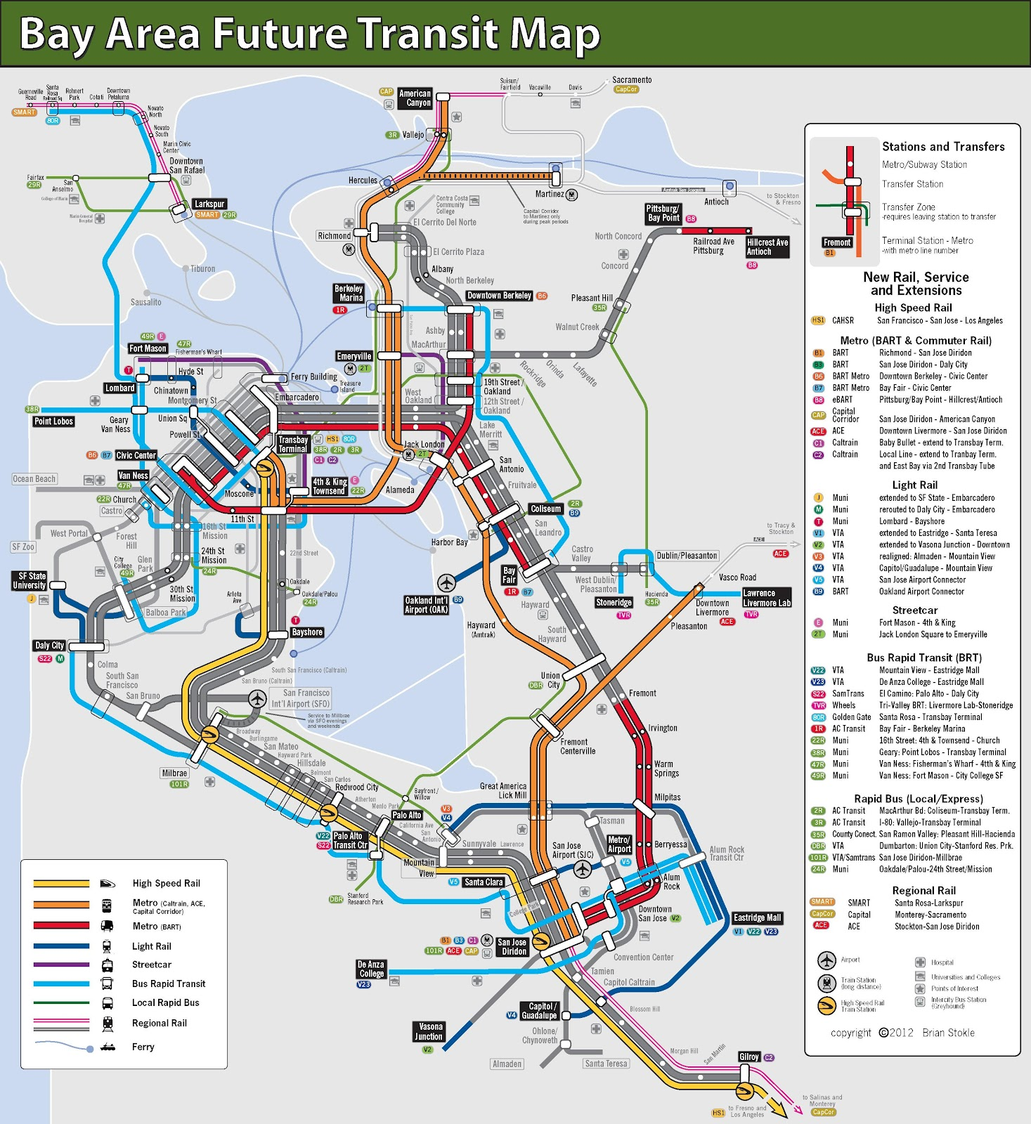 Bay Area Transit Map A Possible Future The bay area is home to a number of renowned hospitals that provide expert care. bay area transit map a possible future