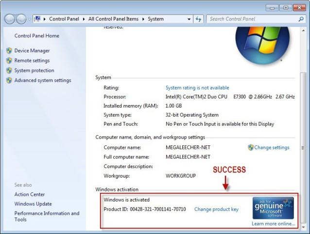 window 7 ultimate 32 bit serial key