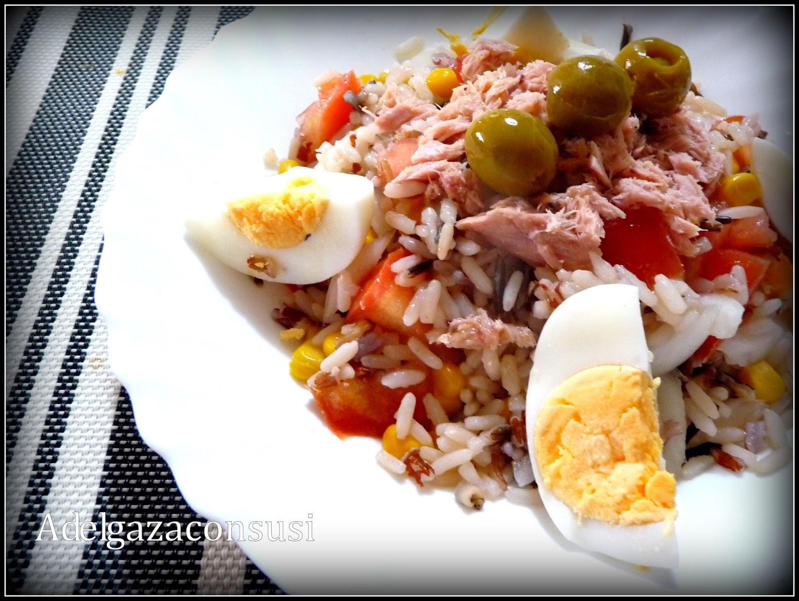 Recetas light adelgazaconsusi ensalada de arroz salvaje - Ensalada de arroz light ...