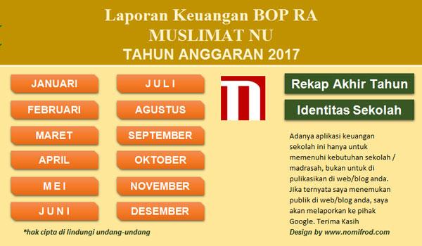 Aplikasi Keuangan / Buku Kas Umum Sesuai Juknis BOP RA Siap Cetak