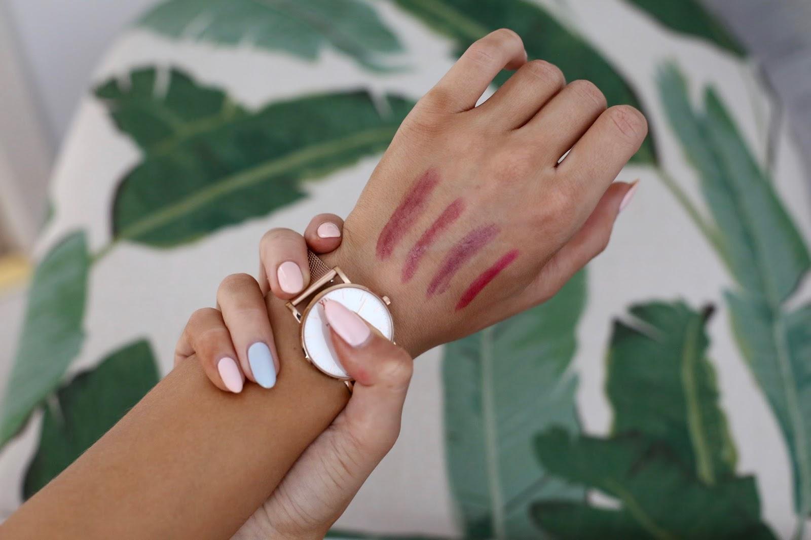 Armani lipstick swatches