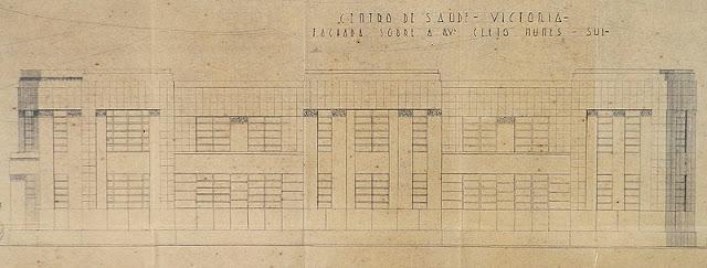 ID 365 - Projeto de um Centro de Saúde para Vitória à rua Cais de São Francisco, Parque Moscoso, proprietário Estado do Espírito Santo, outubro de 1940.