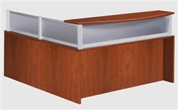 Boss Plexiglass Laminate Reception Desk
