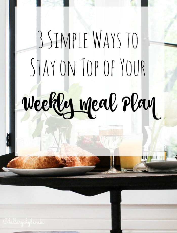 3 Simple Steps to Stay on Top of Your Weekly Meal Plan