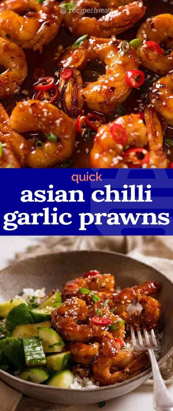 Asian Chilli Garlic Prawns (Shrimp)