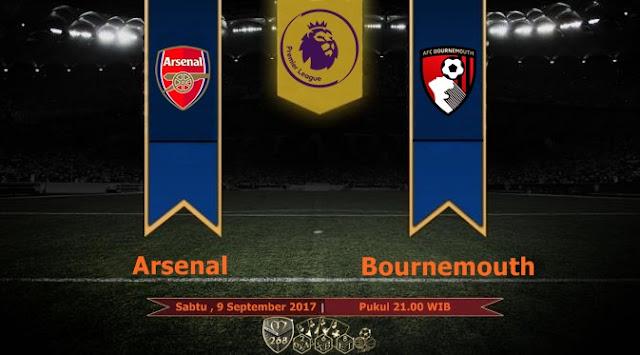 Prediksi Bola : Arsenal Vs Bournemouth , Sabtu 09 September 2017 Pukul 21.00 WIB