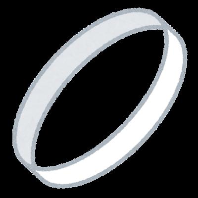 白い輪のイラスト