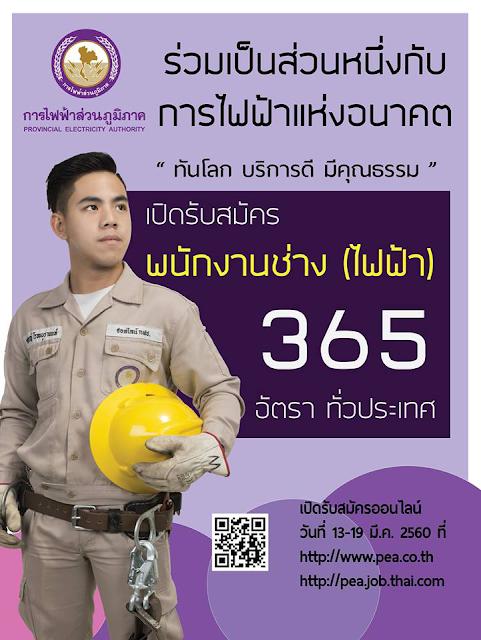 สมัครสอบการไฟฟ้าส่วนภูมิภาค 2560